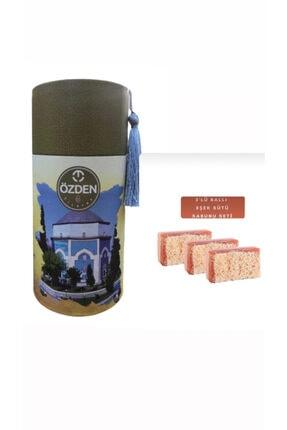 özden %100 El Yapımı Doğal Kabak Lifli Ballı Eşek Sütü Sabunu 3'lü Set 360 Gr 1