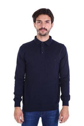 Picture of Polo Yaka Büyük Beden Erkek Triko Lacivert 2025204b