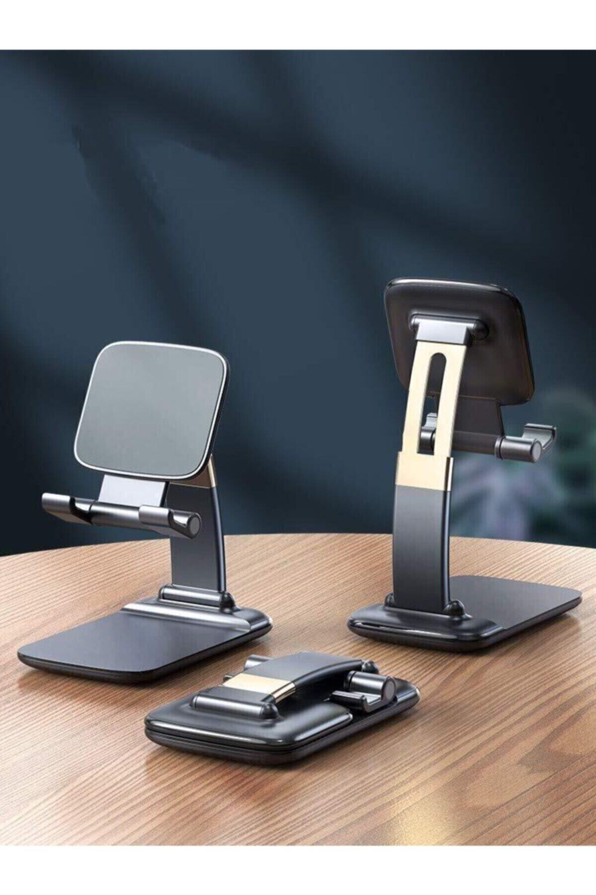 Portatif Ayarlanabilir Katlanır Telefon Ve Tablet Masaüstü Stand Tutucu