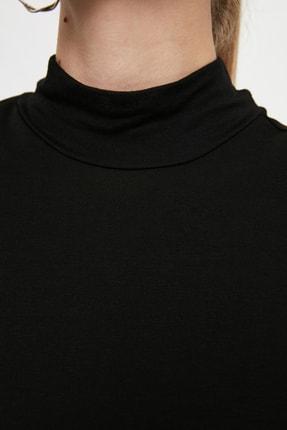 Trendyol Modest Siyah Dik Yaka İçlik Viskon İnce Tunik TCTSS21TN0249 2
