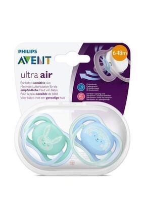 Philips Avent Erkek Desenli Ultra Air Emzik 6-18 Ay 1