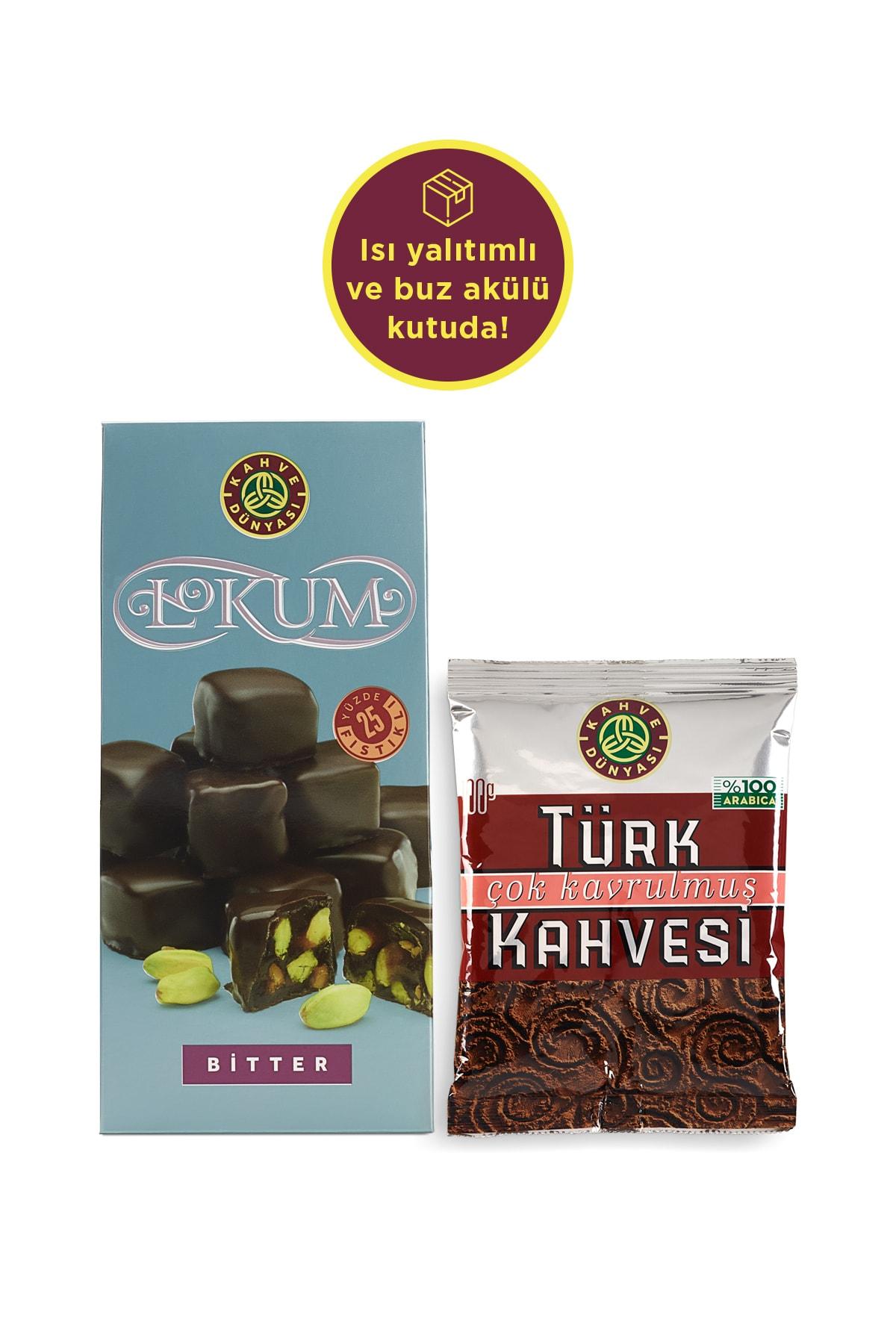 Türk Kahvesi Ve Bitter Çikolata Kaplı Lokum Set