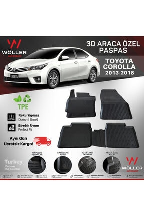 Wöller Toyota Corolla Paspas 2013 2018 Arası 3d Havuzlu Paspas 0