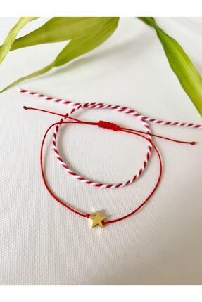 The Pheia Yıldızlı Kırmızı Bileklik Ve Kırmızı Beyaz Marteniçka Set 0