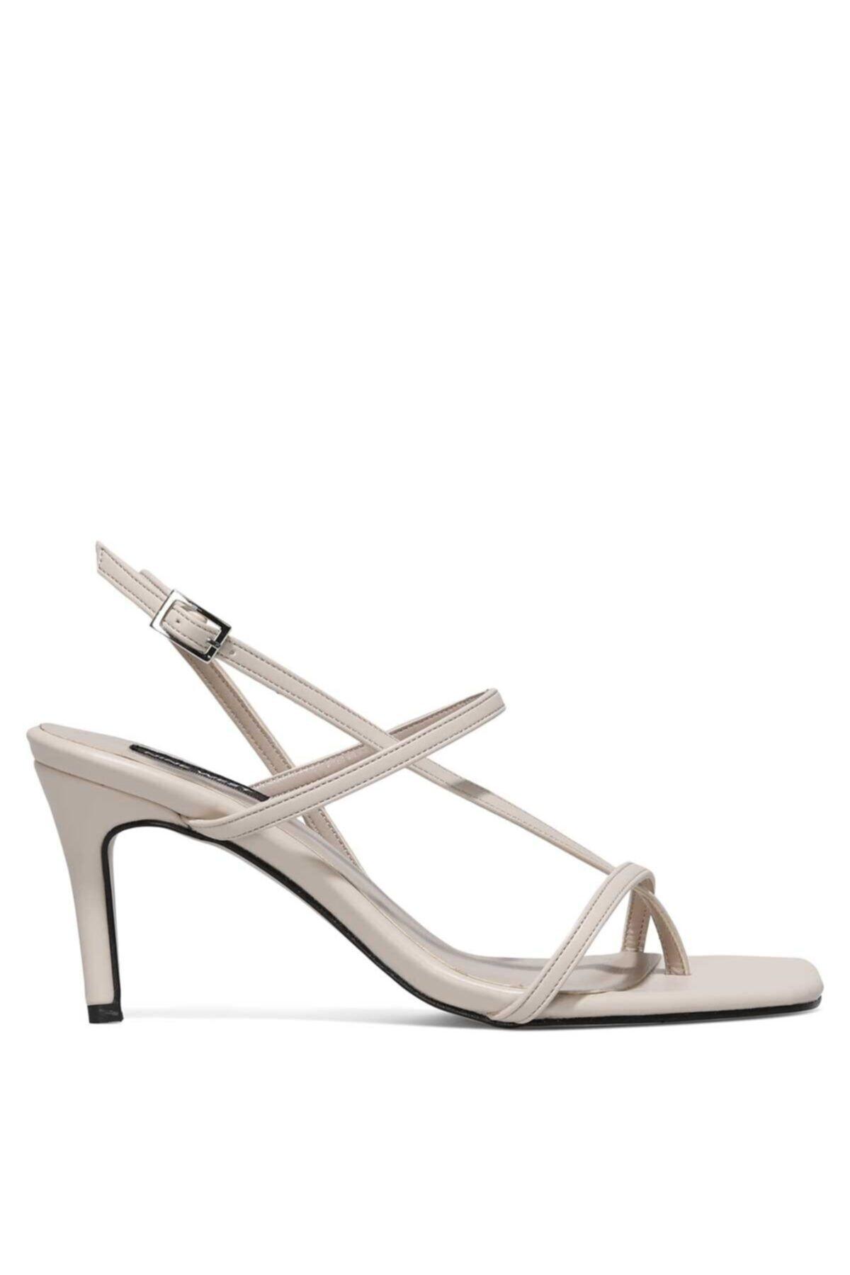Hea 1fx Bej Kadın Topuklu Ayakkabı