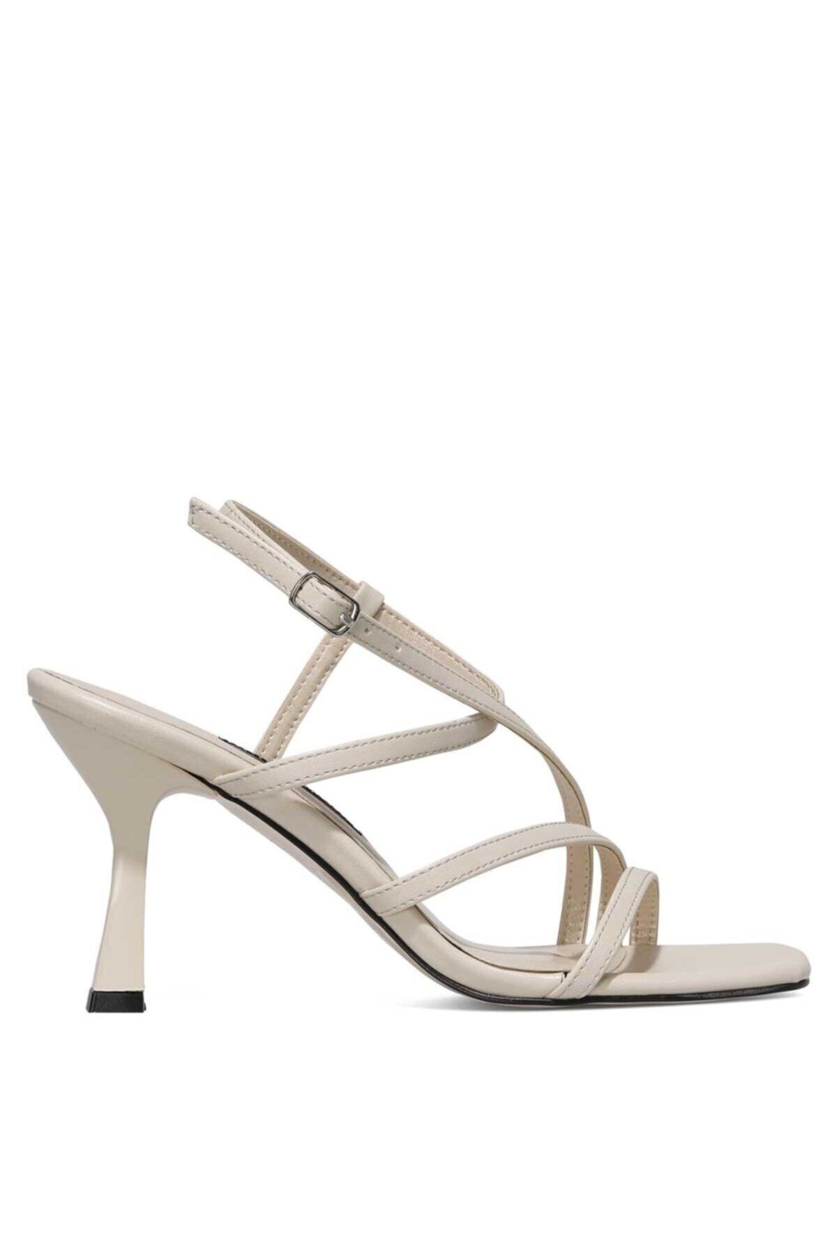 Rıa 1fx Bej Kadın Topuklu Ayakkabı