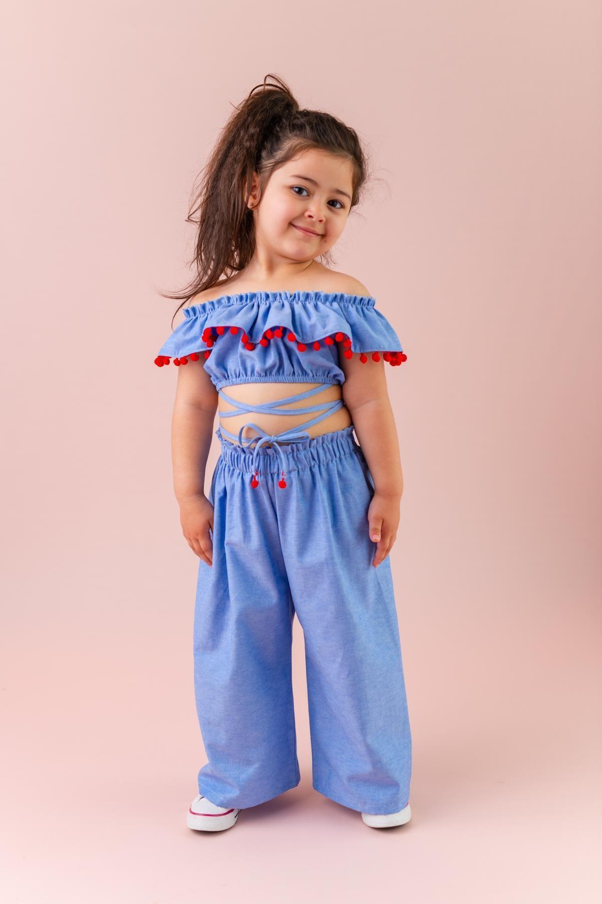 Mavi Kız Çocuk Takım Bianca
