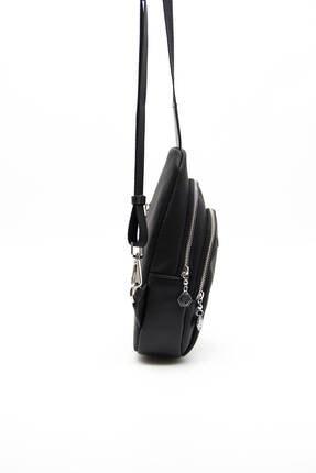 Silver Polo Sılver Polo Siyah Iki Bölmeli Kadın Bel Çantası Sp959 4