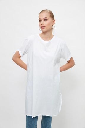 Trendyol Modest Beyaz Basic Tunik T-shirt TCTSS21TN0056 1