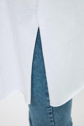 Trendyol Modest Beyaz Basic Tunik T-shirt TCTSS21TN0056 3
