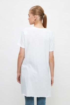 Trendyol Modest Beyaz Basic Tunik T-shirt TCTSS21TN0056 4