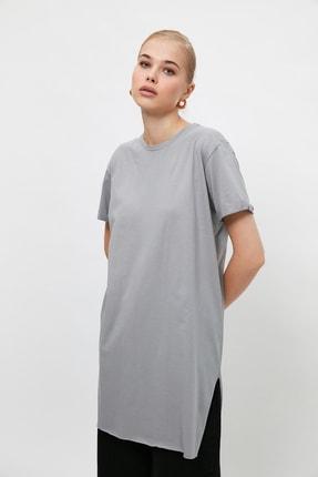 Trendyol Modest Gri  Tunik T-shirt TCTSS21TN0056 2