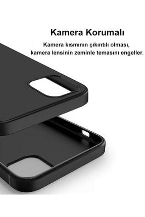 CEPSTOK Apple Iphone 11 Kılıf Ultra Ince Tıpalı Soket Korumalı Kamera Korumalı Mat Siyah Slim Silikon 4