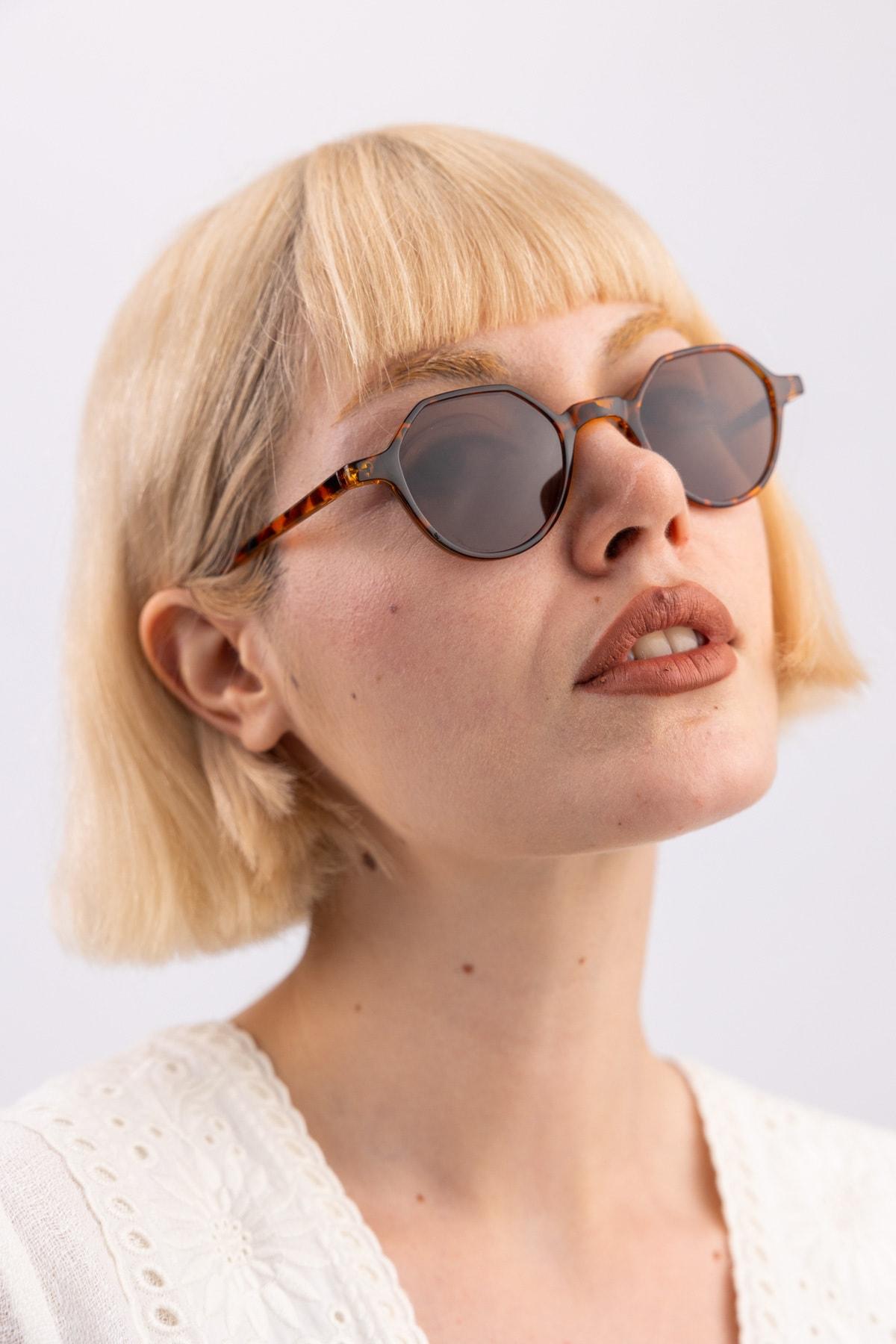 Kadın Paula Leopard Güneş Gözlüğü