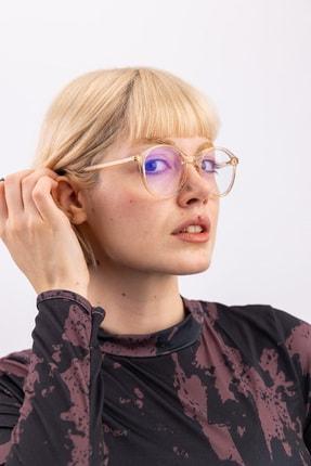 Bilge Karga Megan Nude Mavi Işık Koruyucu Gözlük 2