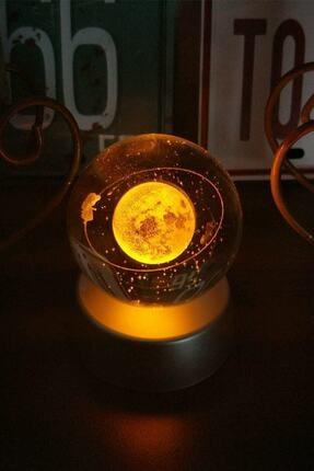 Patladı Gitti Satürnlü Kız Işıklı Cam Küre 1