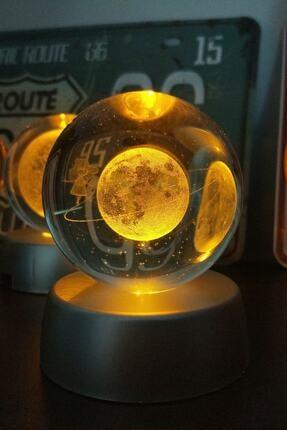 Patladı Gitti Satürnlü Kız Işıklı Cam Küre 2