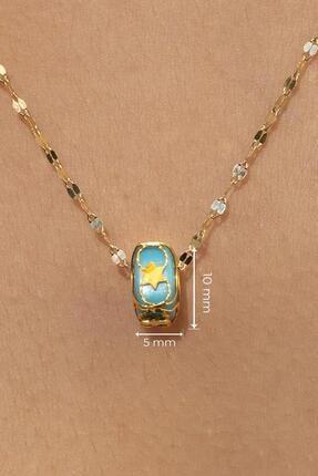 Bayar Gold Kadın Sarı 14 Ayar Altın İtalyan Aynalı Kafesli Kolye 4