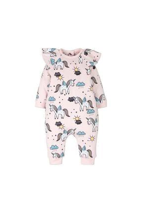 İDİL BABY Kız Bebek Pembe Unicorn Tulum 14332 0