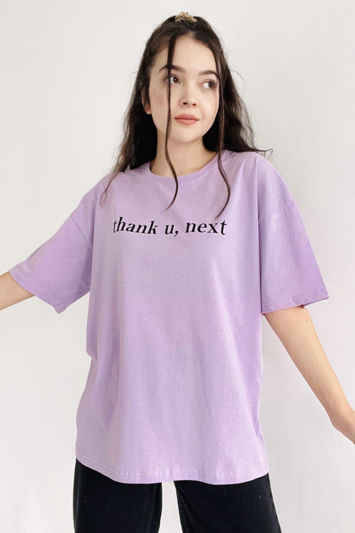 Lila Thank U Next Tişört