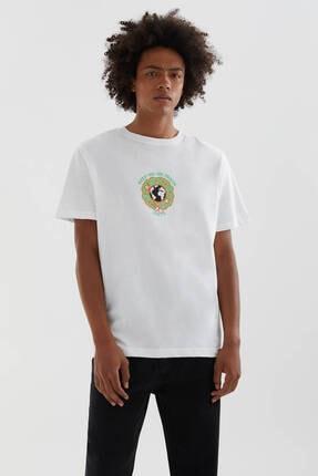 Picture of Beyaz Global Farmland Sloganlı T-shirt