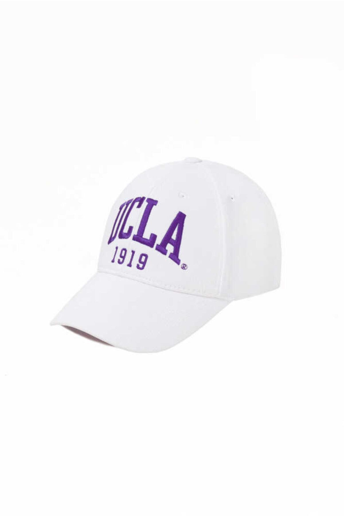 Ballard Beyaz Mor Nakışlı Şapka