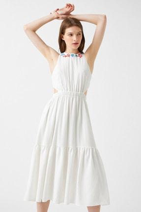 Kadın Kirik Beyaz Elbise 1YAK82093UW