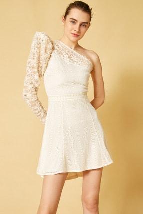 Kadın Kirik Beyaz Elbise 1YAK84128ZK