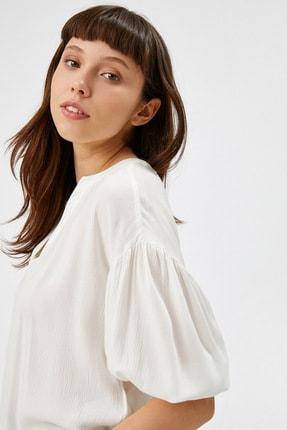 Kadın Kirik Beyaz Bluz 1YAK66656IW