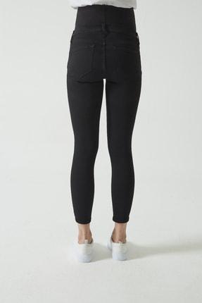 CROSS JEANS Siyah Beli Lastikli Skinny Fit Dizi Yıpratmalı Jean Hamile Pantolonu (İleri Dönem) C 4668-005 2