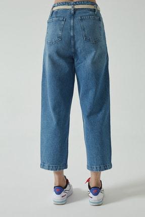 CROSS JEANS Bailey Orta Mavi Yüksek Bel Cropped Geniş Paça Jean Pantolon C 4670-005 2