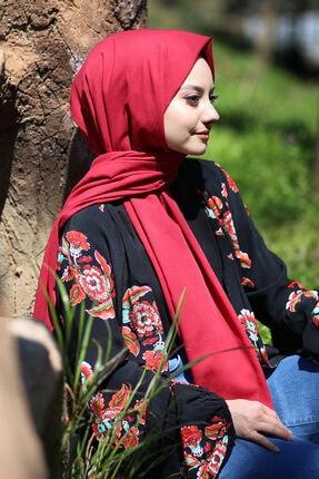 AFVENTE Kadın Bordo Cotton Pamuk Şal Ck01 1