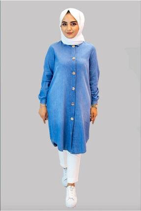Picture of 21yt421 Buz Mavi Tunik