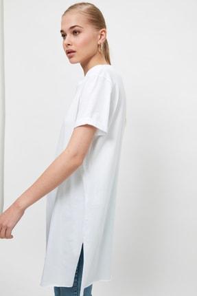 Trendyol Modest Beyaz Basic Tunik T-shirt TCTSS21TN0056 2