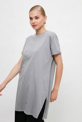 Trendyol Modest Gri  Tunik T-shirt TCTSS21TN0056 1