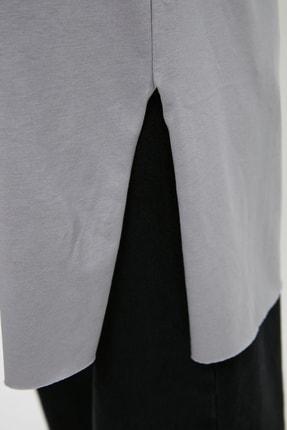Trendyol Modest Gri  Tunik T-shirt TCTSS21TN0056 3