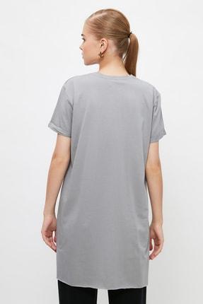 Trendyol Modest Gri  Tunik T-shirt TCTSS21TN0056 4
