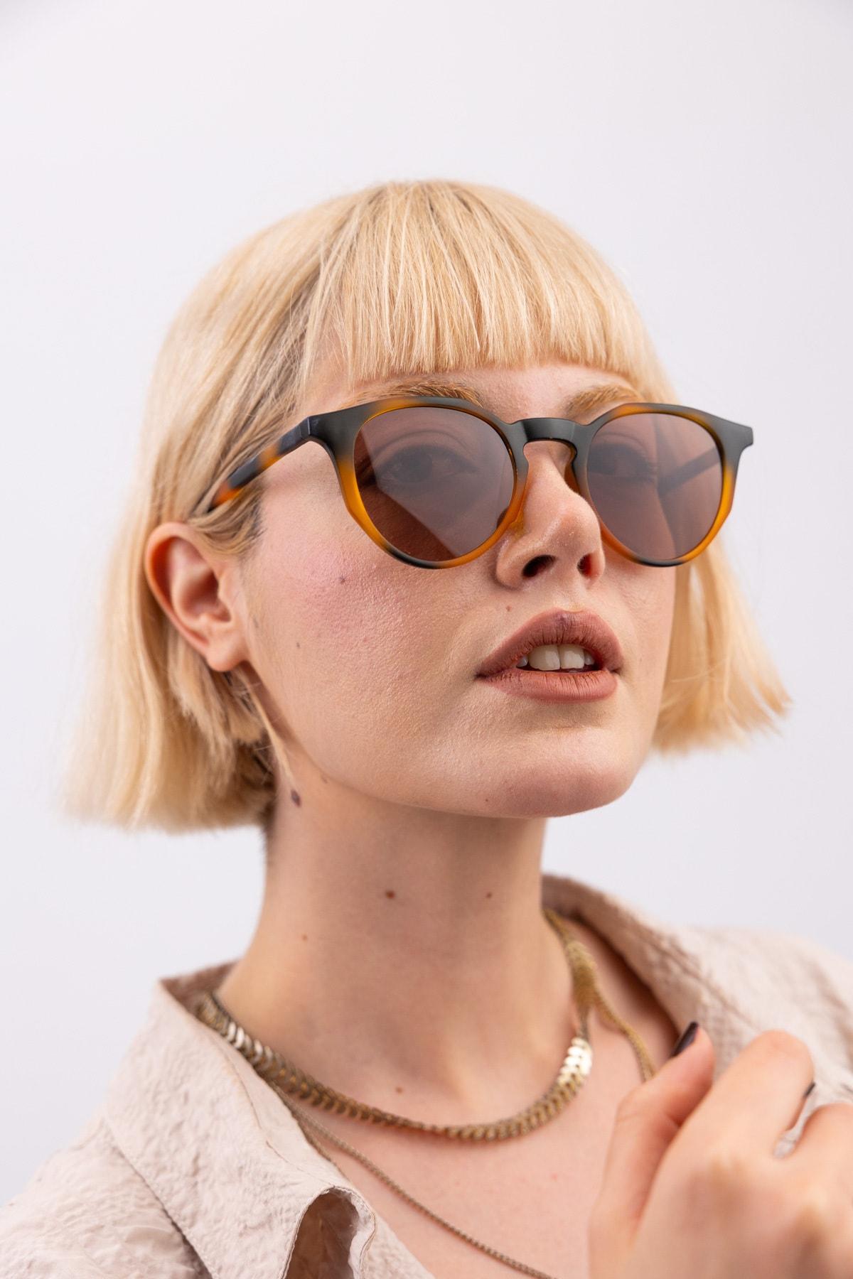 Kadın Amora Leopard Güneş Gözlüğü