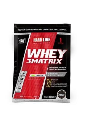 Hardline Whey 3 Matrix Protein Tozu 1 Adet Çikolata 0