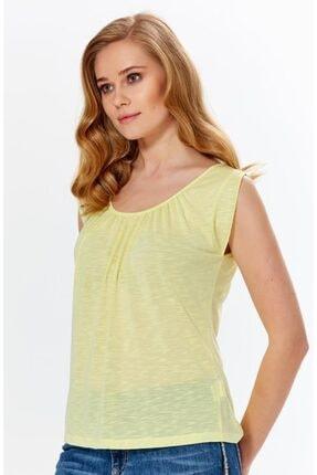 İkiler Kadın Açık Fıstık Yeşil Yakası Büzgülü Flam Bluz 018-1616 2