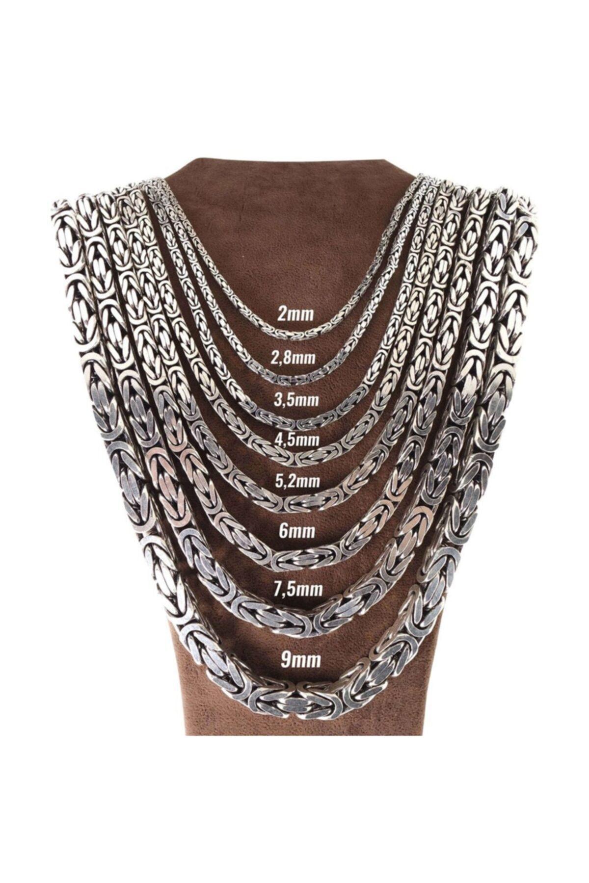 925 Ayar Gümüş 55 Cm Kral Zincir Yuvarlak Model Kolye