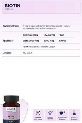 Eczacıbaşı Selfit Biotin 2000 Mcg 100 Tablet - Son Kullanma Tarihi: 04.2023 2