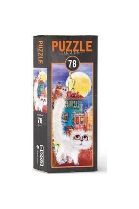 Blue Focus Focus Puzzle 78 Parça Street Cats 0
