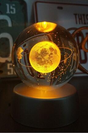 Patladı Gitti Satürnlü Kız Işıklı Cam Küre 3