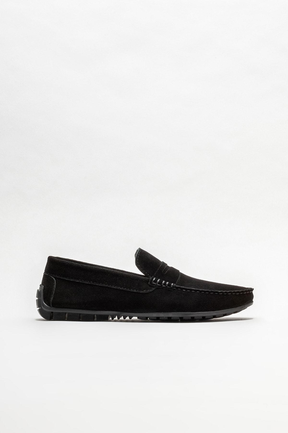 Siyah Deri Erkek Günlük Loafer