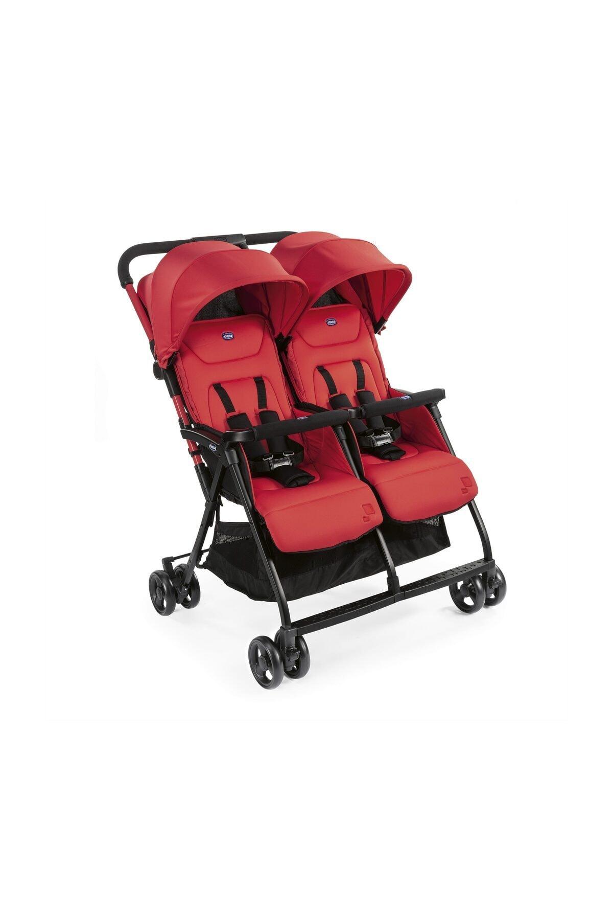 Ohlala 2 Twin Ultra Hafif Ikiz Bebek Arabası / Paprika
