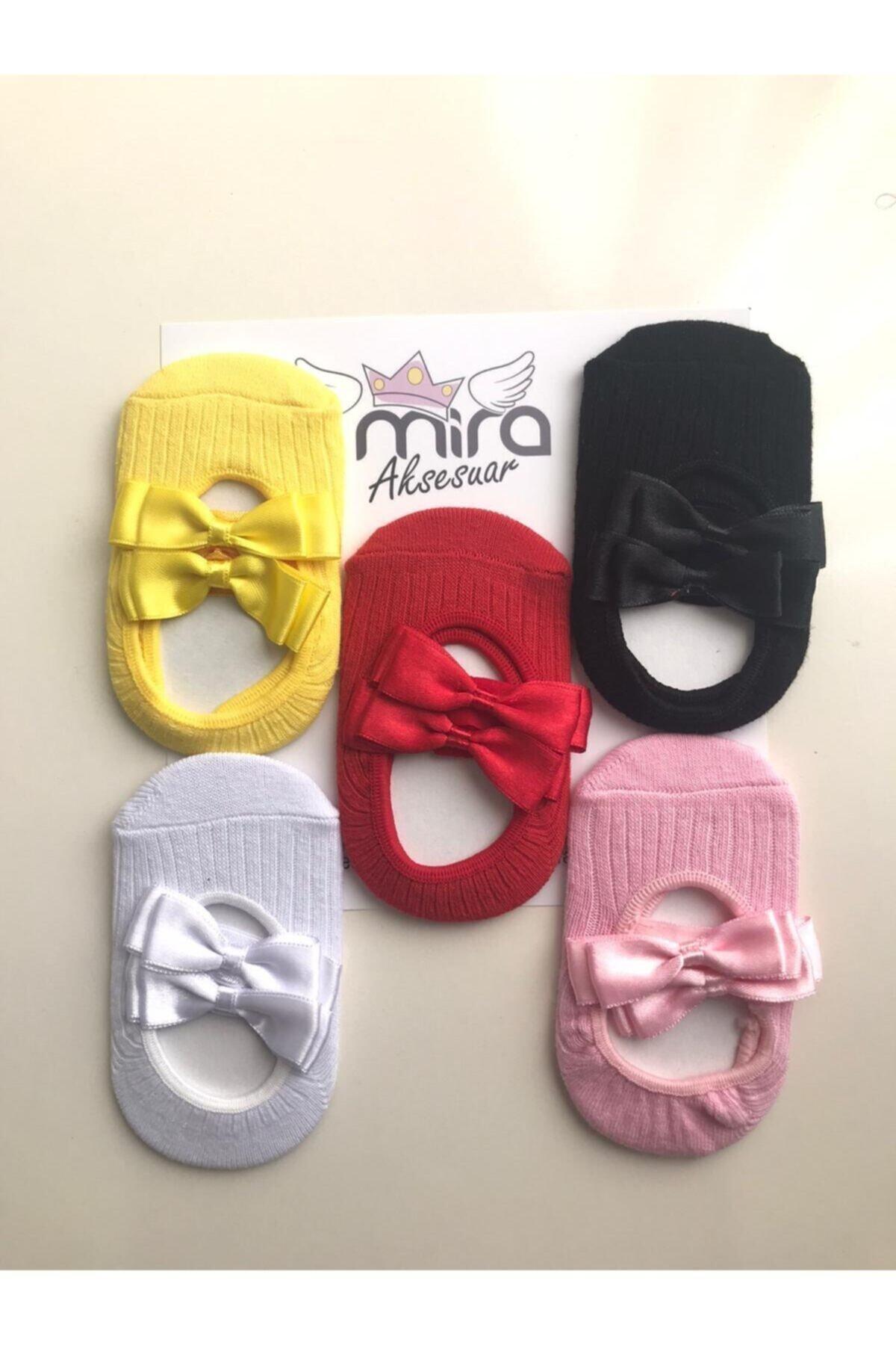 Kız Bebek Renkli Babet Çorap 5 Li