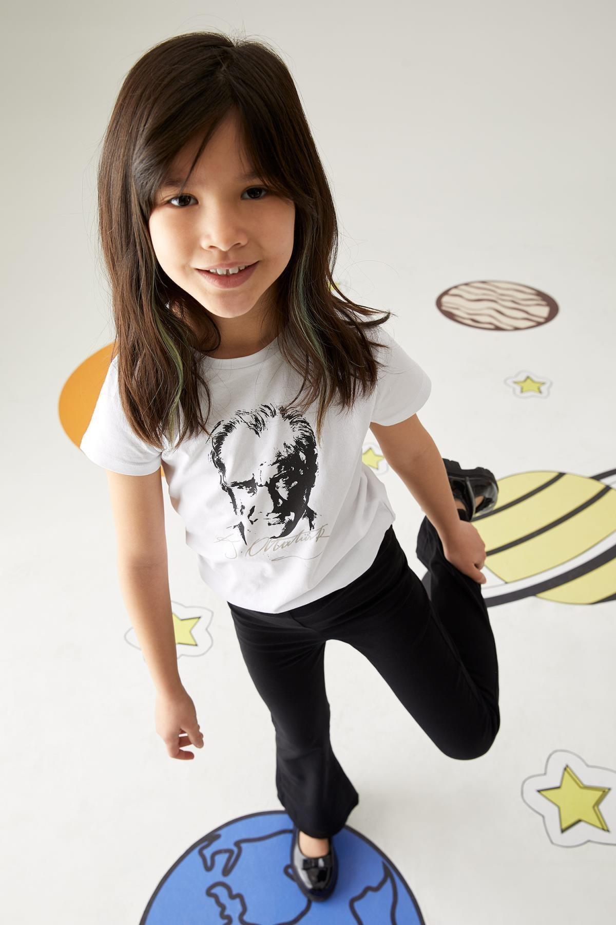 Kız Çocuk Ispanyol Paça Örme Pantolon