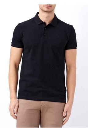 Erkek Siyah Basic Polo Yaka Battal Tişört resmi