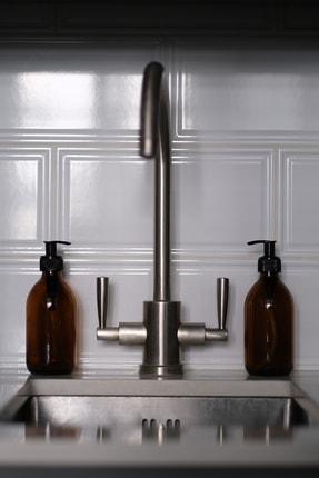 TriChi Design 300ml Kahverengi Amber Cam Şişe Sıvı Sabunluk 2